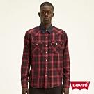 Levis 男款 法藍絨格紋襯衫 休閒版型 丹寧領口