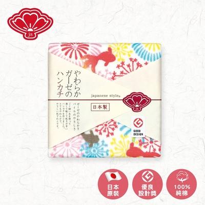 日纖 日本泉州純棉方巾30x30cm(花火祭典)
