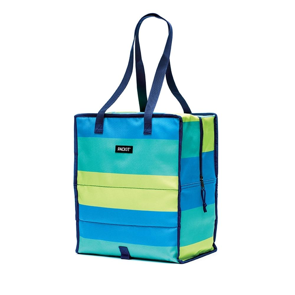 美國【PACKIT】 購物冷藏袋(清新條紋)
