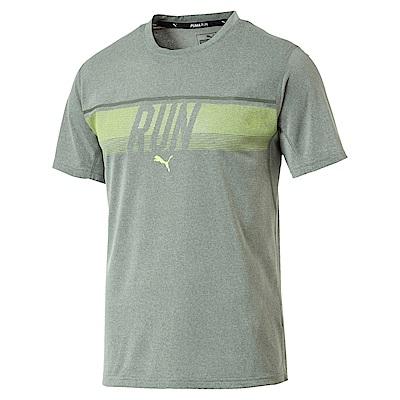 PUMA-男性慢跑系列RUN短袖T恤-中麻花灰-歐規