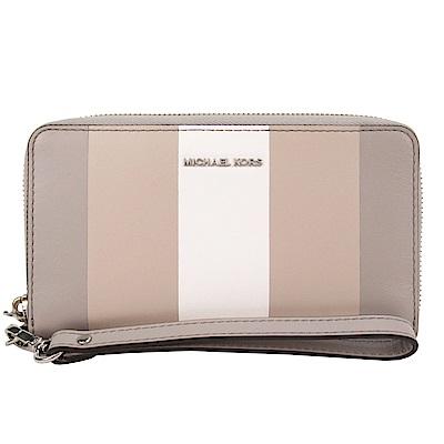 MICHAEL KORS 三色條紋手機中夾(灰/展示品) @ Y!購物