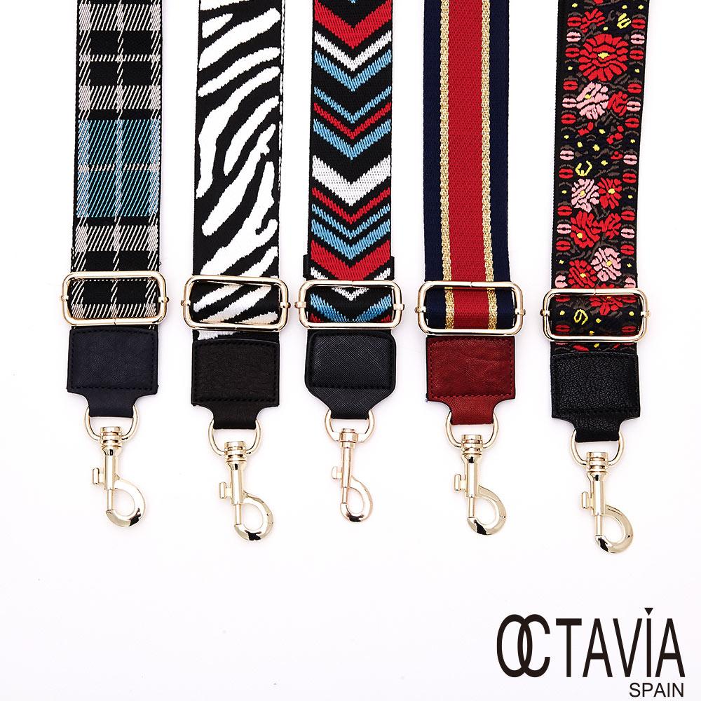 OCTAVIA8 - NEW LOOK 時尚寬版圖騰肩背帶 - MUTIPUL