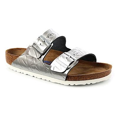 勃肯BIRKENSTOCK 1008479。ARIZONA經典二條拖鞋(光譜銀)
