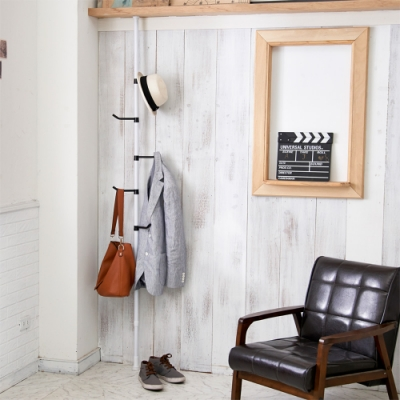 H&R安室家 台製頂天立地衣帽架/掛衣架TS189