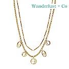 Wanderlust+Co 澳洲時尚品牌 MULTI HELIX星軌項鍊 金色