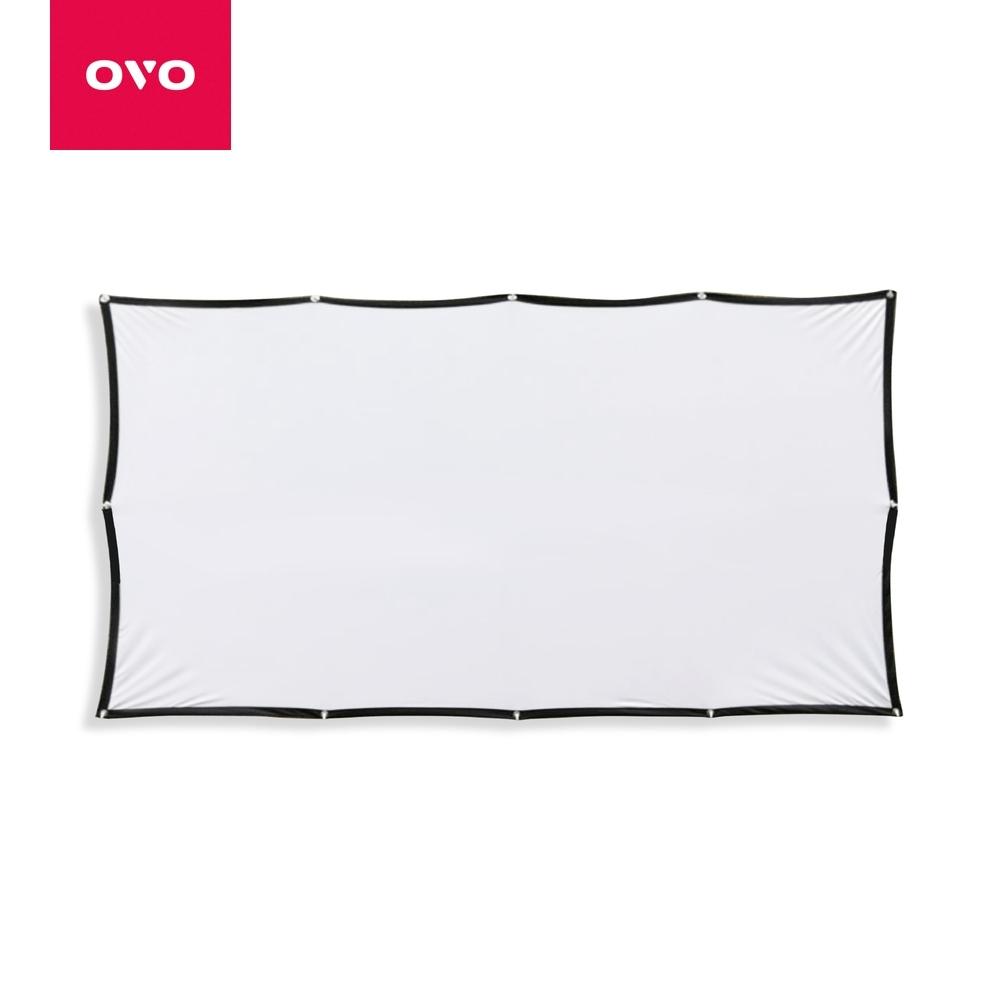OVO投影機簡易百吋布幕PS01