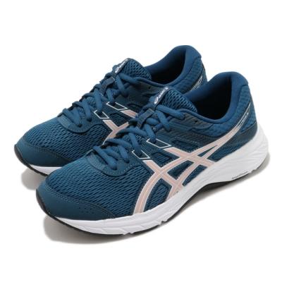 Asics 慢跑鞋 Gel Contend 6 女鞋 亞瑟士 路跑 耐磨 緩衝 入門 亞瑟膠 藍 粉 1012A570401