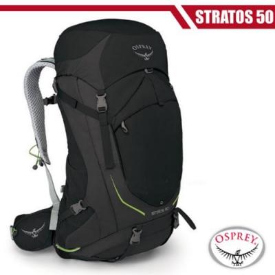OSPREY 新款 Stratos 50 透氣立體網架健行背包_黑 R