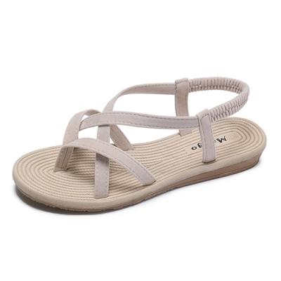 KEITH-WILL時尚鞋館 獨家價追加款完美腿型平底涼鞋-米