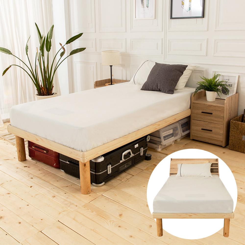 時尚屋 佐野3.5尺床箱型4件房間組-床箱+高腳床+床頭櫃+床墊 @ Y!購物