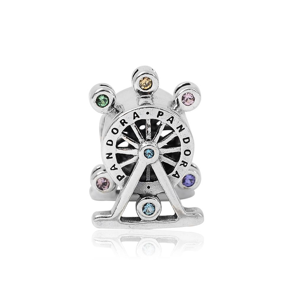 Pandora 潘朵拉 魅力摩天輪鑲鋯 純銀墜飾 串珠