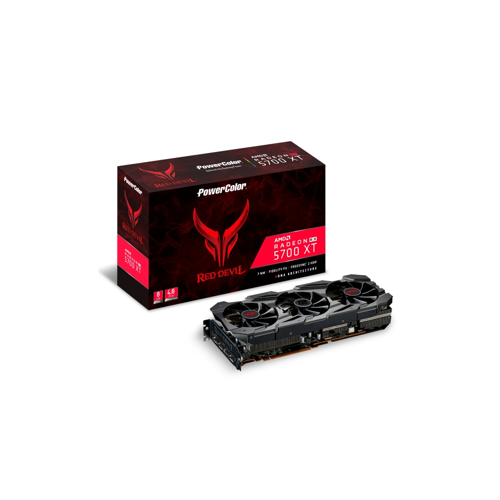 撼訊 RX 5700 XT Red Devil OC 8GB GDDR6 PCI-E4.0顯示卡