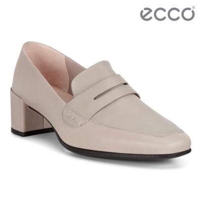 ECCO SHAPE 35 SQUARED 現代尖頭優雅方跟高跟鞋 女鞋-灰粉色