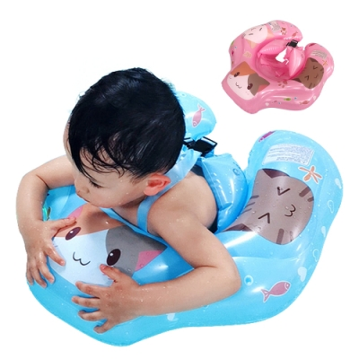 colorland 嬰兒游泳圈兒童充氣防側翻游泳趴圈坐圈