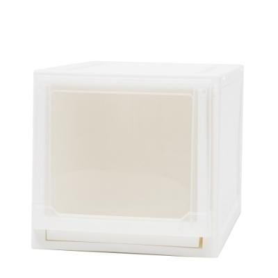完美主義 加高可堆疊收納箱/塑膠櫃/收納櫃 2入組(2色)