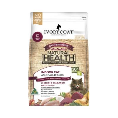 澳洲IVORY COAT澳克騎士-體重控制-全貓食譜-無穀鮮雞&袋鼠肉 3kg/6.6lbs(贈咖啡卷*1張)