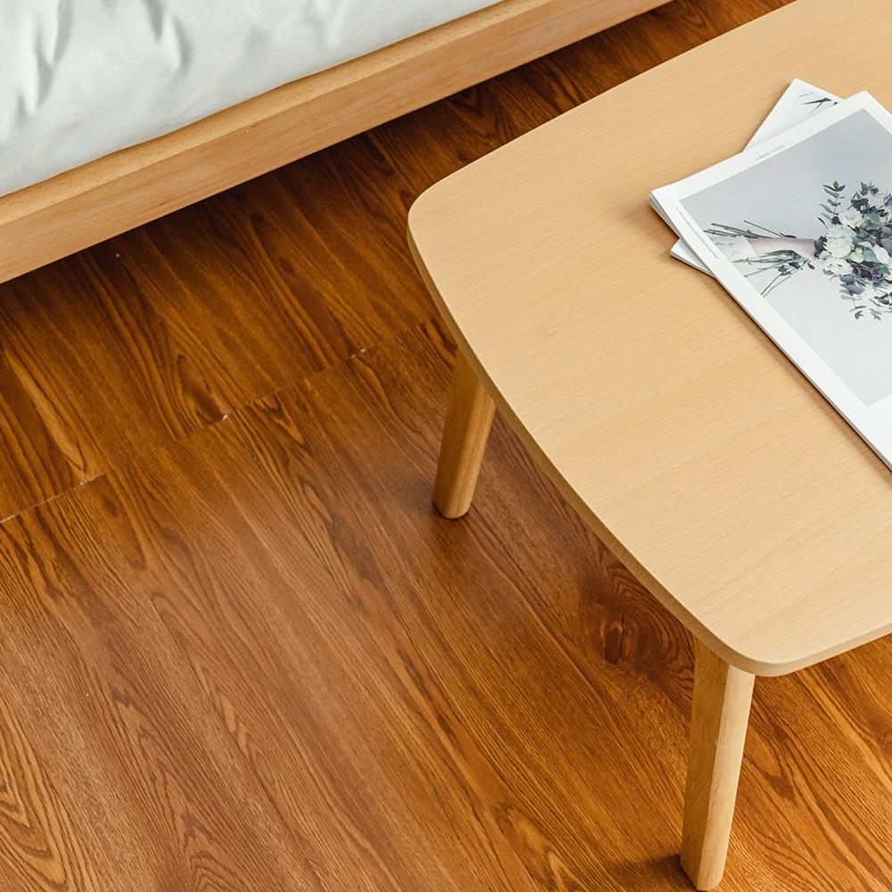 樂嫚妮 (160片)DIY塑膠PVC仿木紋DIY地板貼 6.9坪- 咖啡橡木-贈壁貼