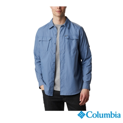 Columbia 哥倫比亞 男款 - Omni-Shade 防曬50快排長袖襯衫-墨藍 UAE06510IB