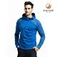 【hilltop山頂鳥】男款ZISOFIT保暖吸濕抗菌刷毛上衣H51MI7石藍 product thumbnail 1