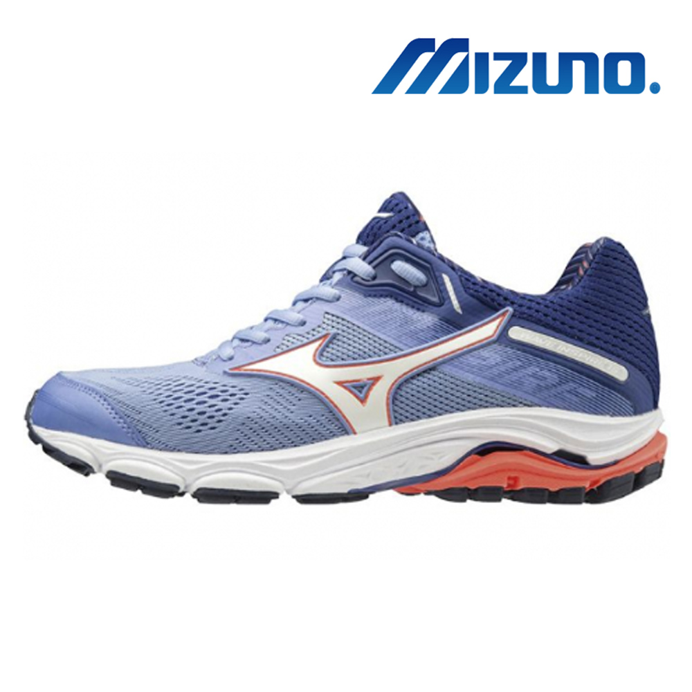 美津濃 WAVE INSPIRE 15 女慢跑鞋 藍 J1GD194401