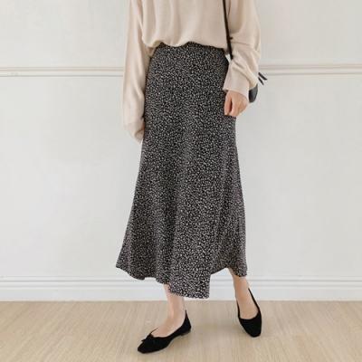 【KISSDIAMOND】日系小清新小豹紋長裙(2色S-2XL/輕熟女/氣質款/KDS-065)