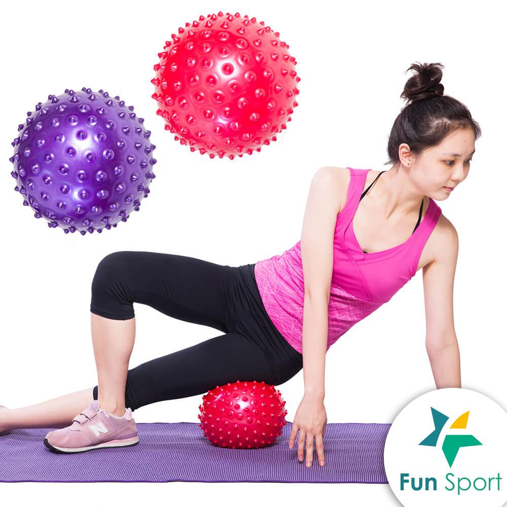 Fun sport 舒力活20cm顆粒抗力球(2入)-顏色隨機-含打氣筒