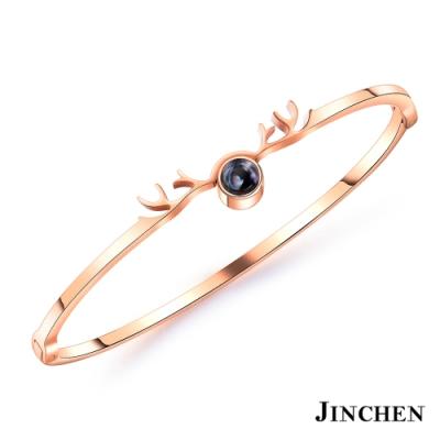 JINCHEN 白鋼一鹿有你手環