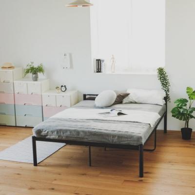 (時時樂限定) 完美主義 5尺加高雙人床架/鐵床/附插座/工業風(2色)