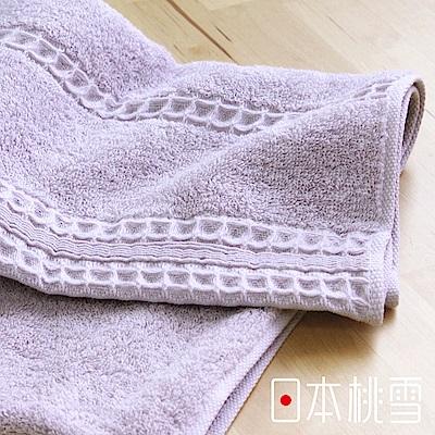 日本桃雪 今治德州棉高密浴巾(煙紫色)