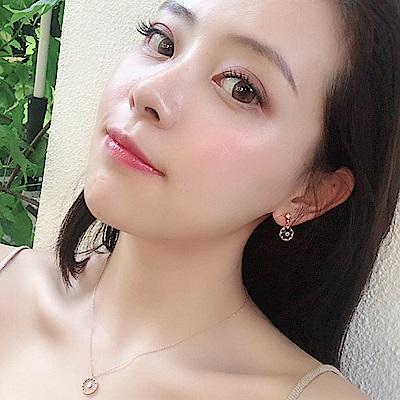 梨花HaNA 韓國925銀金秘書為何那樣透明晶鑽懸浮耳環銀色