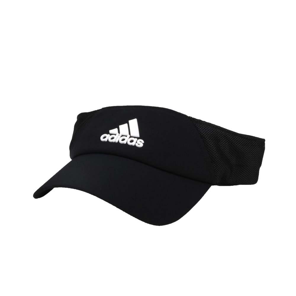 ADIDAS 中空運動帽-吸濕排汗 遮陽帽 防曬 帽子 愛迪達 FK0860 黑白