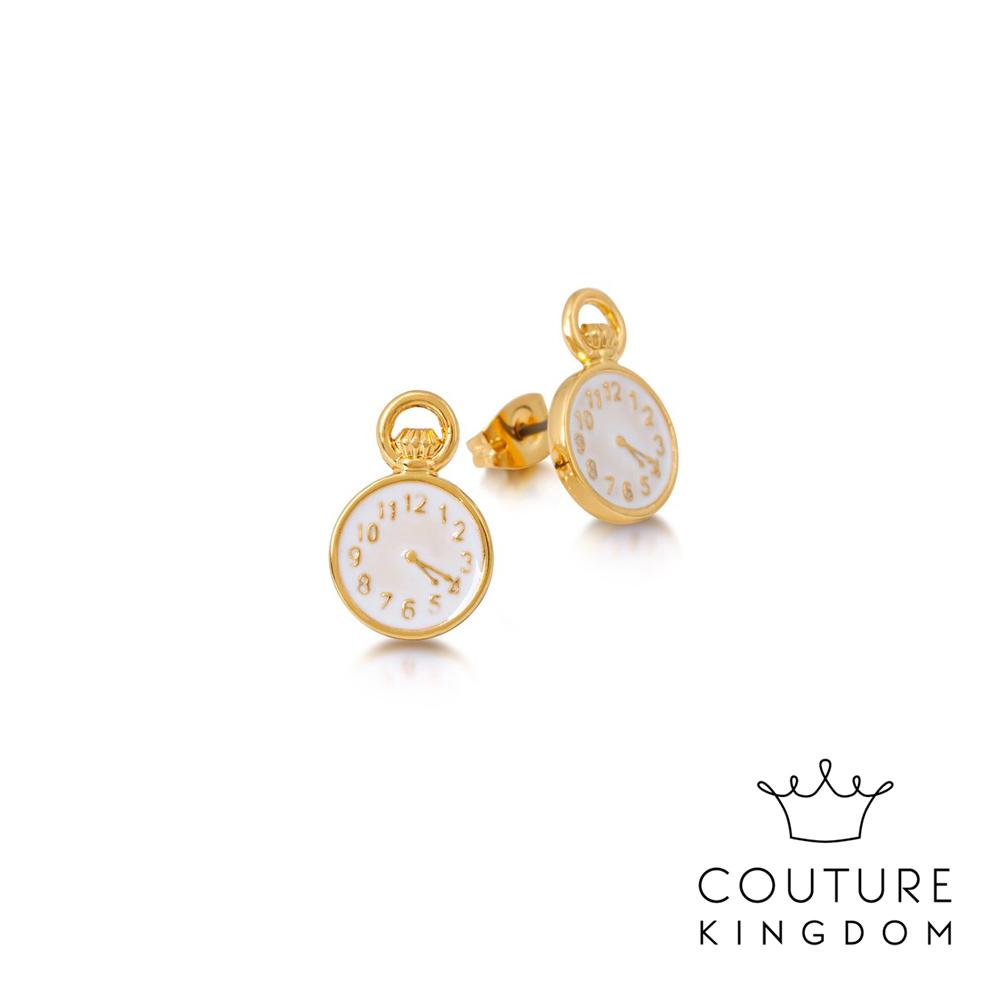 Disney Jewellery by Couture Kingdom 懷錶鍍金耳釘