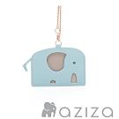 aziza 小象造型票卡夾 水藍