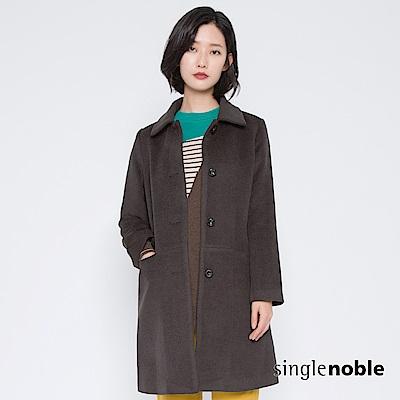 獨身貴族 女王氣息排釦翻領毛呢大衣(2色)