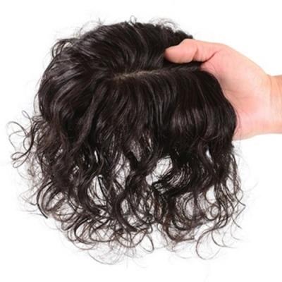 米蘭精品 假髮片真髮絲-20cm捲髮補髮塊透氣女假髮母親節禮物2色73us14