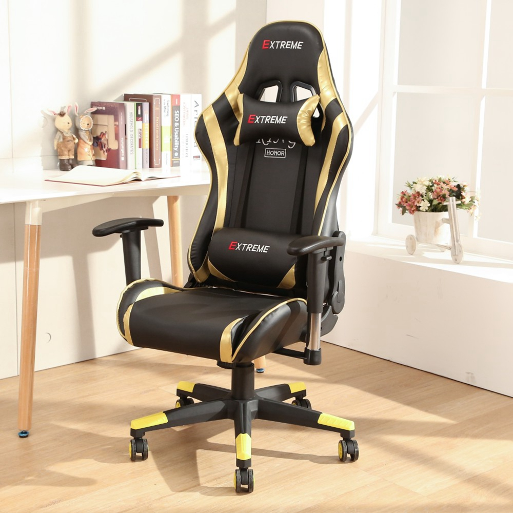 LOGIS- ESPORTS GOLD炫聯盟皮面電競椅 電腦椅 主管椅 賽車椅 皮椅