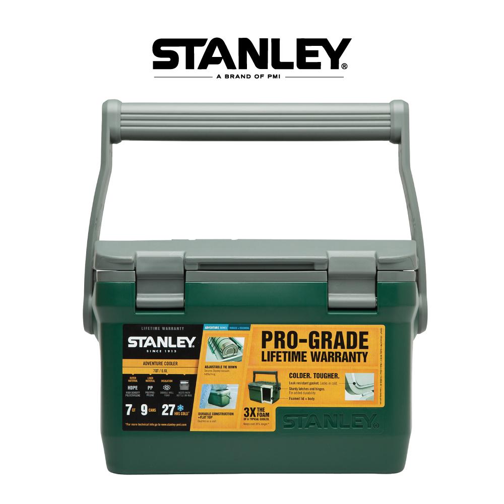 美國Stanley 可提式超長效能保溫冰桶6.6L 綠