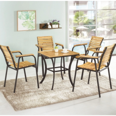MUNA 艾格絲休閒桌(1桌2椅) 60X60X63cm