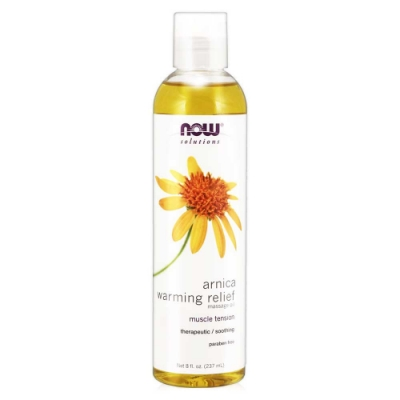【NOW】山金車舒活熱力按摩油(8oz/237ml) Arnica Warming Relief Massage Oil