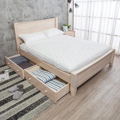 Boden-伊莫5尺雙人全實木床架-抽屜型(不含床墊)
