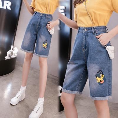 【韓國K.W.】(預購)夏日風尚牛仔短褲-1色