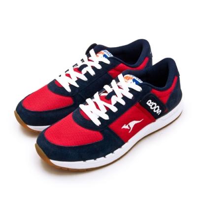 KangaROOS 經典復刻慢跑鞋 COMBAT紅標系列 紅藍白 91032