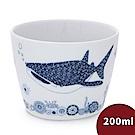 Natural69 波佐見燒 CocoMarine系列 日式茶杯 200ml 豆腐鯊