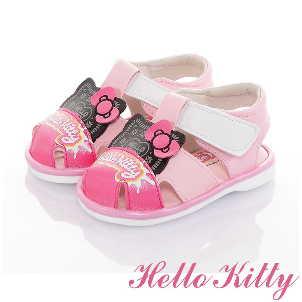 HelloKitty童鞋 輕量減壓吸震寶寶學步嗶嗶涼鞋-粉