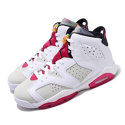 Nike 休閒鞋 Air Jordan 6代 Retro GS 女鞋 Hare 兔寶寶 喬丹 AJ6 白 紅 384665062