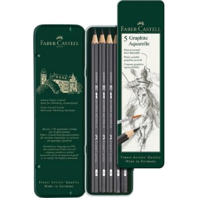 Faber-Castell 水墨素描鉛筆5入117805