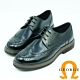 GEORGE喬治皮鞋 學院風漸層翼紋雕花綁帶牛津鞋-黑色 product thumbnail 1
