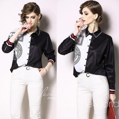 【KEITH-WILL】明星款輕鬆舒適撞色翻領襯衫