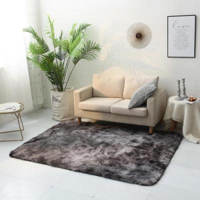 BUNNY LIFE 北歐風長毛絨扎染地毯-深灰(120x190cm)