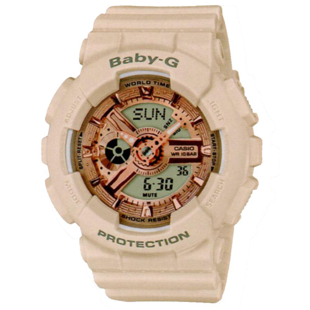 BABY-G時尚個性百搭杏粉色系休閒運動錶(BA-110CP-4)43.4mm @ Y!購物